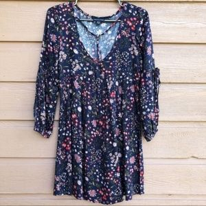 American Eagle Navy Blue Floral Dress - size XS